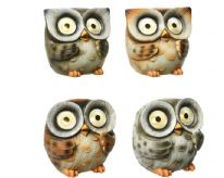 Lumineo LED 4 Assorted Solar Owls - 5cm